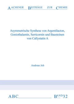 Aachener Beiträge zur Chemie – Band 32