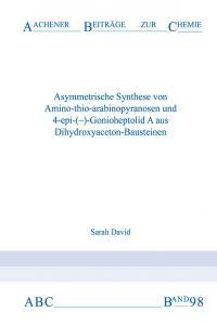 Aachener Beiträge zur Chemie – Band 98